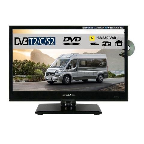Reflexion LDDW160 LED-TV 15,6 Zoll Fernseher DVD DVB-S2-T2-C Full HD 12/230 Volt