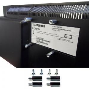 Distanzbolzen / Abstandshalter für TV-Montage zwischen Fernsehgerät + Wandhalter