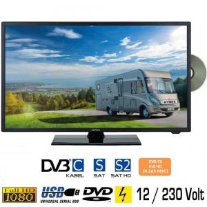 Reflexion LDDW200 LED HD Fernseher 20 Zoll TV DVB-S2/C/T2 DVD 12/24/230 Volt