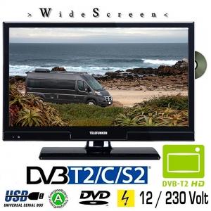 Telefunken L20H270K4DVI LED TV 20 Zoll DVB/S/S2/T/T2/C, DVD, USB, 230 / 12 Volt