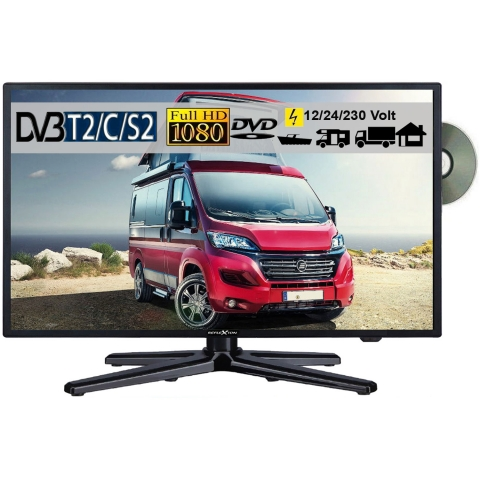 Reflexion LDDW220 LED Fernseher 21,5 Zoll 55cm SAT TV DVB-S2/C/T2 DVD 12/230 Volt