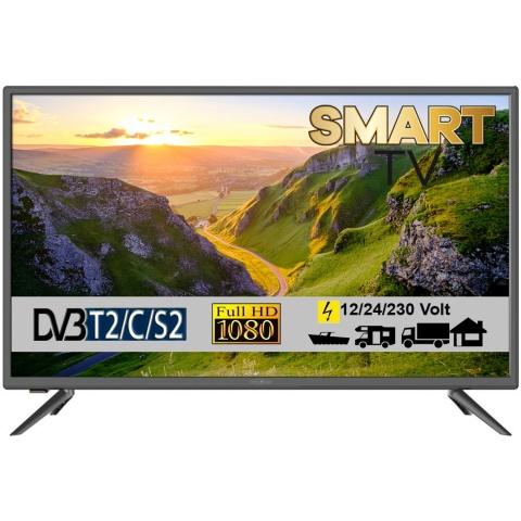 Reflexion LEDW32i LED Smart TV mit DVB-S2 /C/T2 für 12V/24V u. 230 Volt WLAN