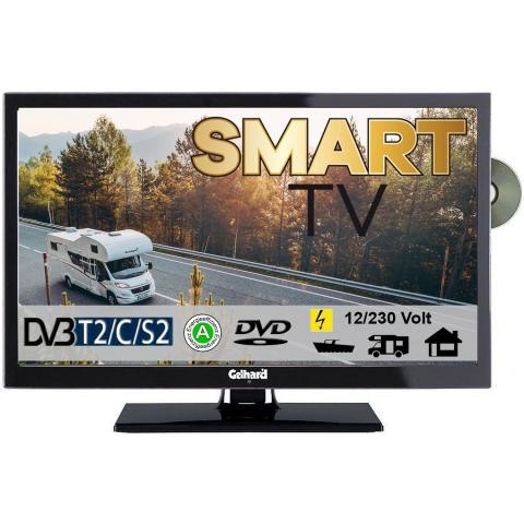 Gelhard GTV2252 Smart TV 22 Zoll DVB/S/S2/T2/C, DVD, USB, 12V 230 Volt WLAN