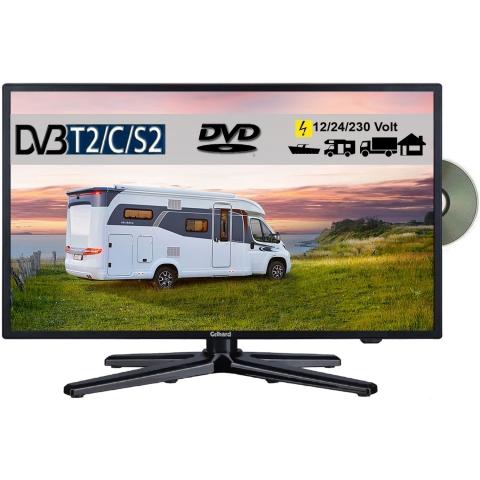 Gelhard GTV1982PVR LED Fernseher 19 Zoll TV DVD DVB-S/S2/T/T2/C 230 / 12/ 24 Volt