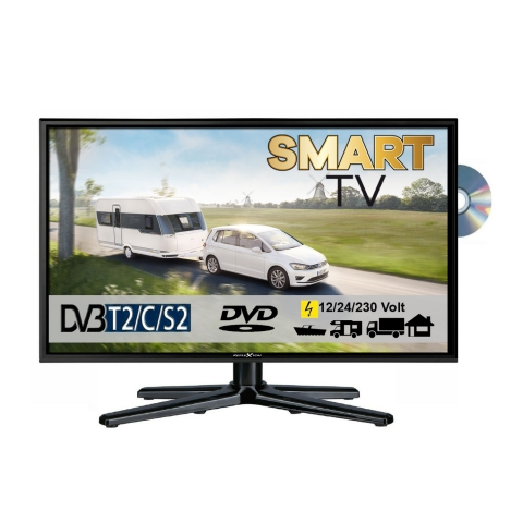 Reflexion LDDW19i LED Smart TV mit DVD und DVB-S2 /C/T2 für 12V/24V u. 230 Volt WLAN