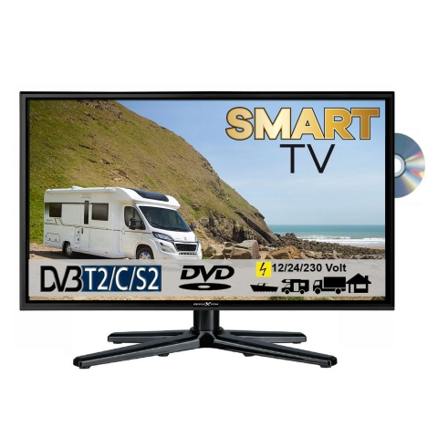 Reflexion LDDW24i LED Smart TV mit DVD & DVB-S2 /C/T2 für 12V u. 230Volt WLAN Full HD