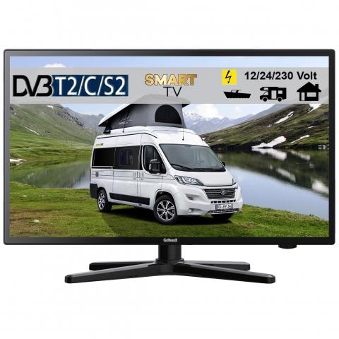 Gelhard GTV2224 LED Smart TV und DVB-S2 /C/T2 für 12V u. 230Volt WLAN Full HD