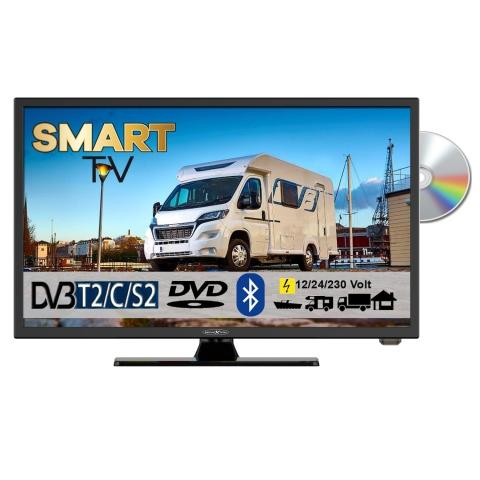 Reflexion LDDW22i+ LED Smart TV mit DVD und Bluetooth DVB-S2 /C/T2 für 12V u. 230Volt WLAN Full HD
