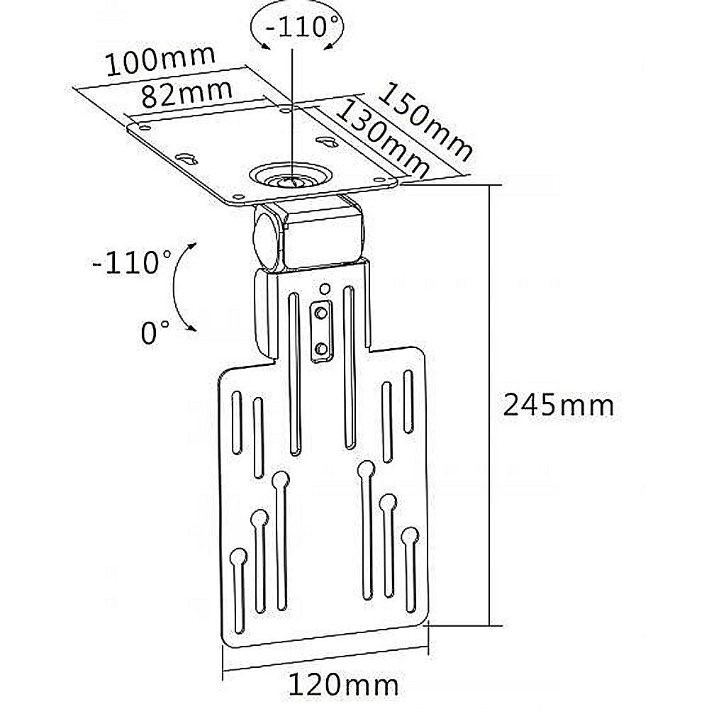 tv fernseher unterbauhalterung k chenhalterung deckenhalterung drehbar unterbau. Black Bedroom Furniture Sets. Home Design Ideas