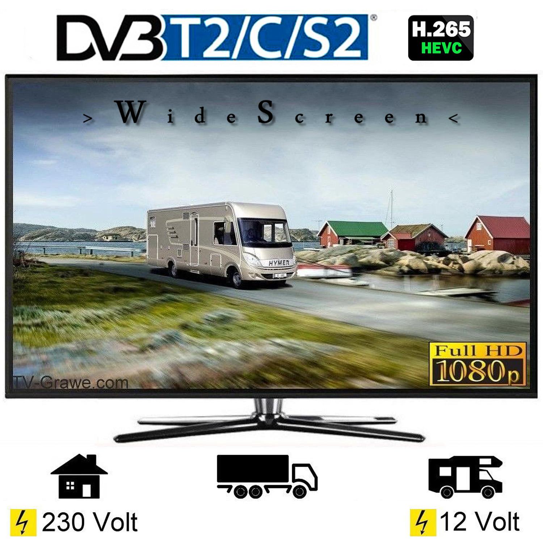 tv led247 fernseher 23 6 zoll 60cm dvb s2 c t2 12volt 230. Black Bedroom Furniture Sets. Home Design Ideas