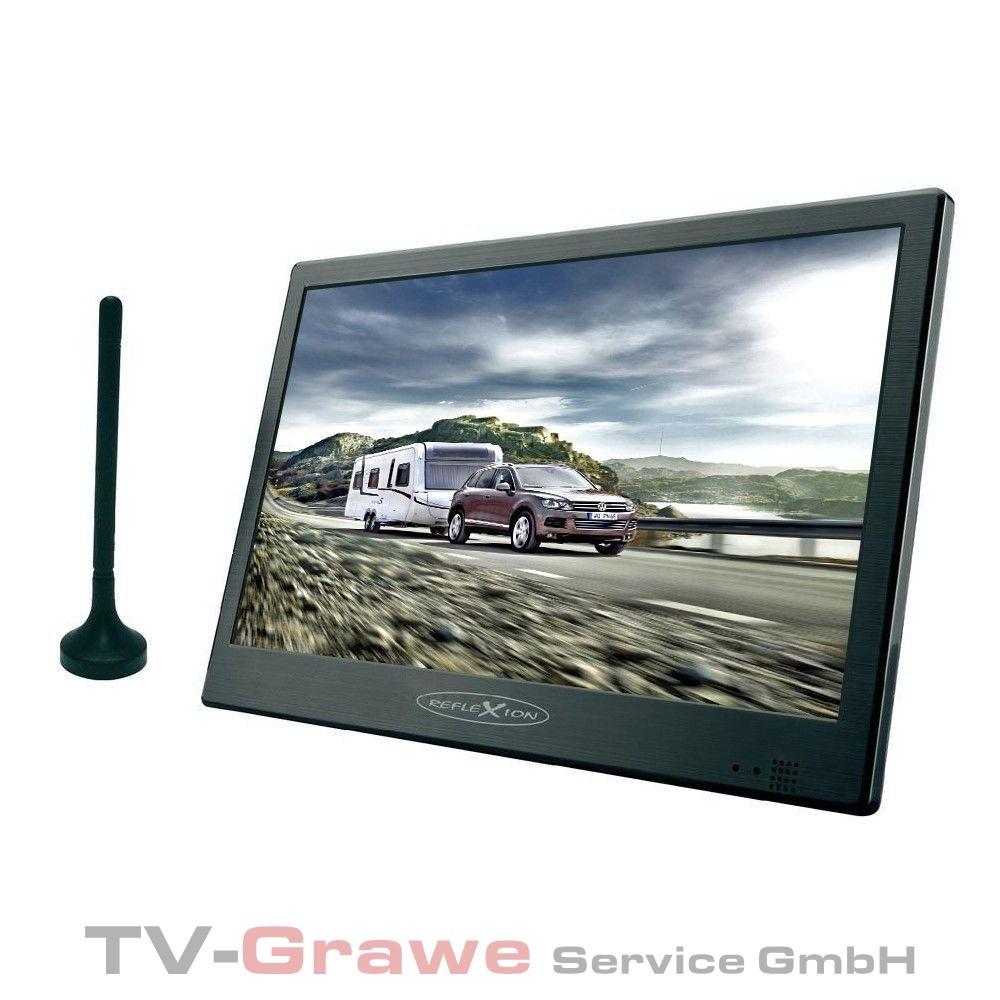 reflexion led 1014 dv tragbarer tv fernseher 10 1 zoll 25 7 cm dvb t ebay. Black Bedroom Furniture Sets. Home Design Ideas