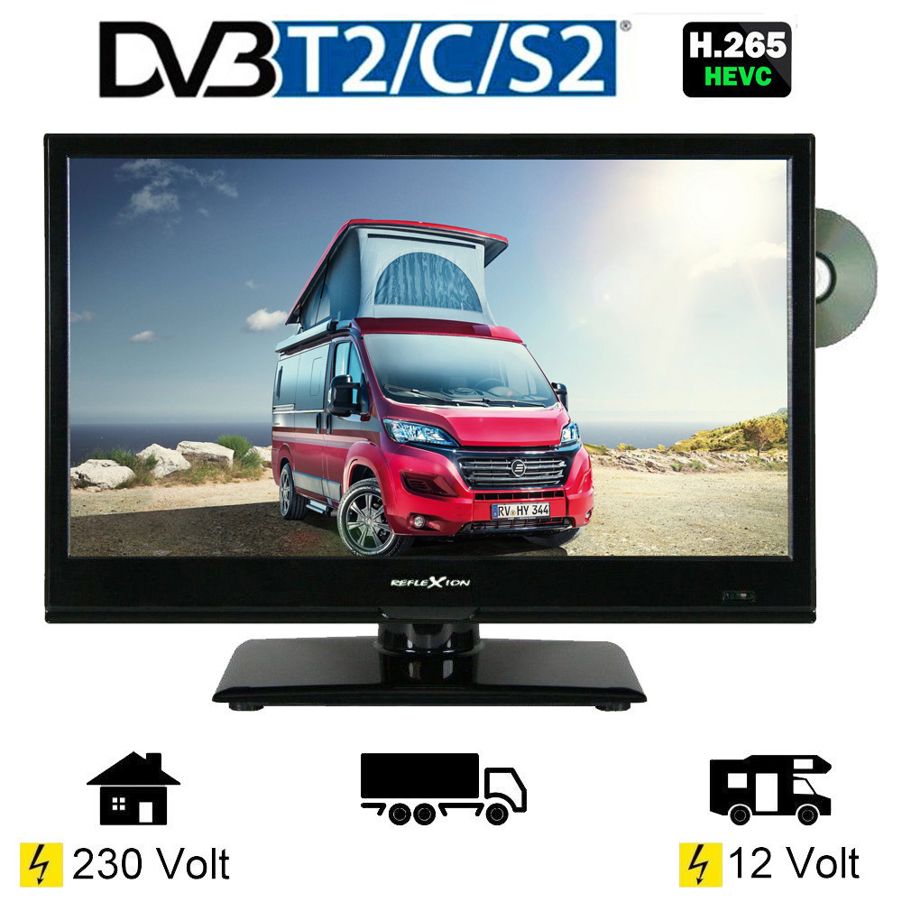 reflexion ldd167 led tv 15 6 zoll 39 6 cm fernseher dvd dvb s s2 c t2 12 230v 4260035674102 ebay. Black Bedroom Furniture Sets. Home Design Ideas