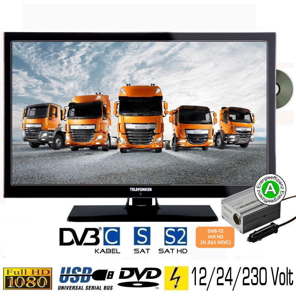 telefunken t22x740 fernseher dvd led tv 22 zoll dvb s s2. Black Bedroom Furniture Sets. Home Design Ideas