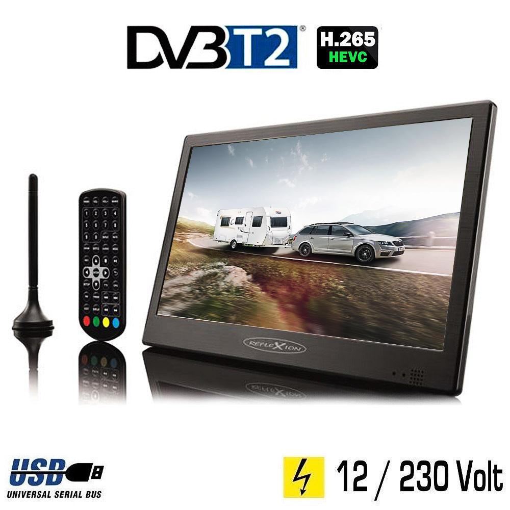 reflexion led1017t2hd portabler led tv fernseher dvb t2 12. Black Bedroom Furniture Sets. Home Design Ideas