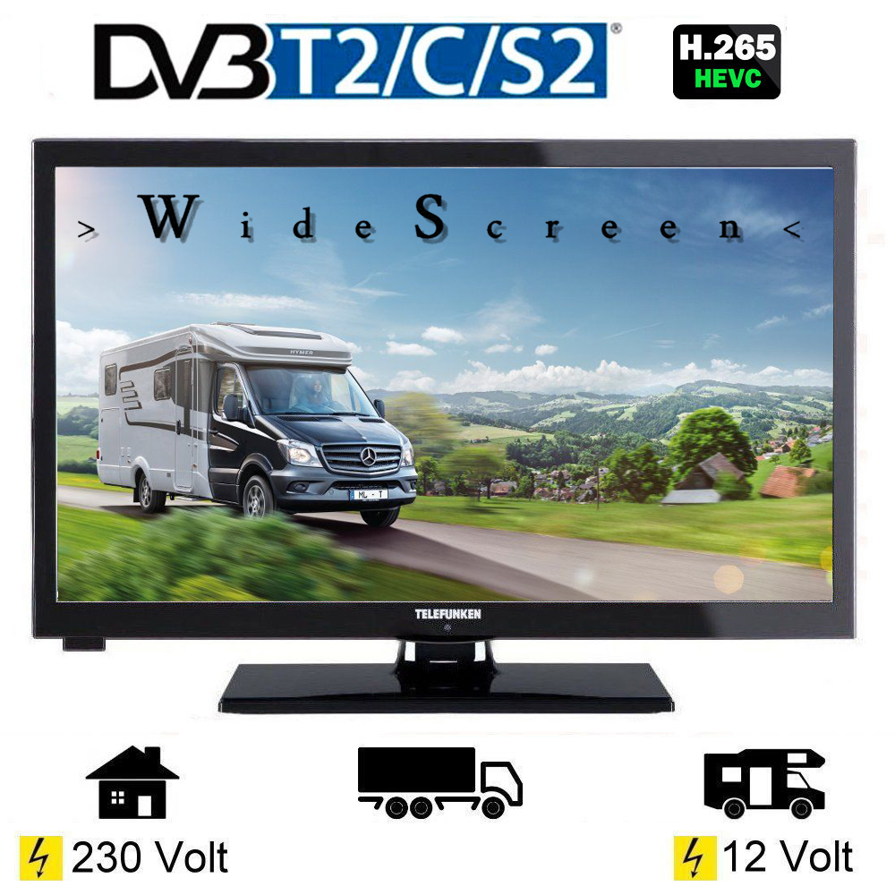 telefunken l24h274 led tv 24 zoll tripletuner dvb c t2 s2. Black Bedroom Furniture Sets. Home Design Ideas