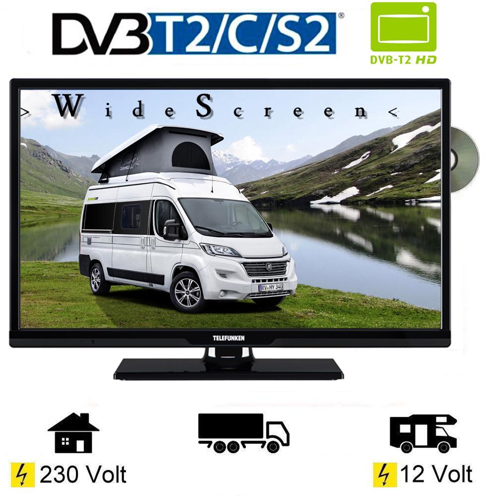 telefunken t24x740 mobil dvd led tv 24 zoll dvb s s2 t2 c 12 volt 230v womo ebay. Black Bedroom Furniture Sets. Home Design Ideas
