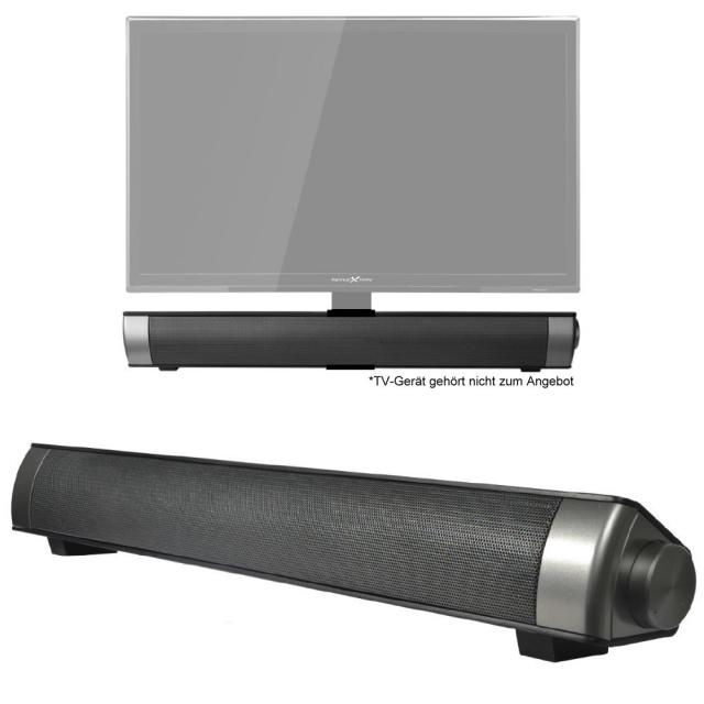 reflexion sb100 soundbar lautsprecher aux schwarz tv grawe tv fernseher mit 12 24 volt. Black Bedroom Furniture Sets. Home Design Ideas