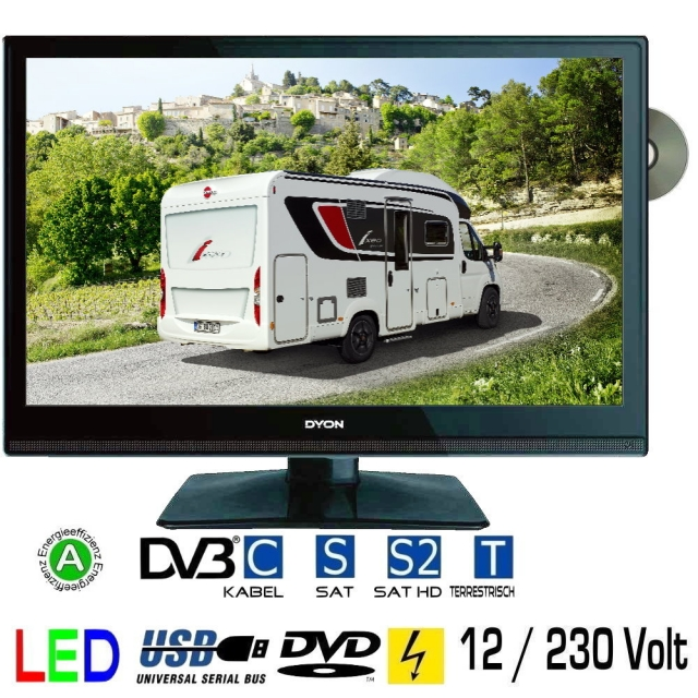 womo tv 19 zoll led fernseher dyon delta 19 dvb s s2 t c. Black Bedroom Furniture Sets. Home Design Ideas