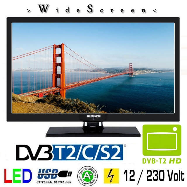 telefunken l22f272k4v led fernseher 22 zoll tv grawe. Black Bedroom Furniture Sets. Home Design Ideas