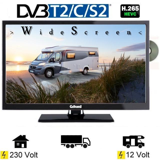 gelhard gtv2442 led fernseher 24 zoll tv grawe tv fernseher mit 12 24 volt anschluss f r. Black Bedroom Furniture Sets. Home Design Ideas