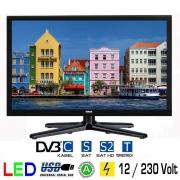 Gelhard GTV1642PVR LED-TV 15,6 Zoll Fernseher  DVB-S2-T2-C   Full HD  12/24/230 V