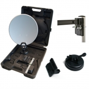 Camping Koffer SAT Anlage Digital Opticum LNB HDTV Saugfuß Kabel