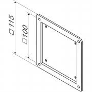 Adapterplatte von VESA 75 auf VESA 100,  ultraflach, LCD TV