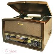 Roadstar HIF-1937TUMPK Retro Design Anlage UKW/MW CD Kasette Plattenspieler