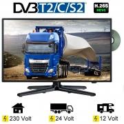 Reflexion LDDW220 LED TV  22 Zoll 56cm SAT DVB-S2/C/T2 DVD 12V 24V 230V