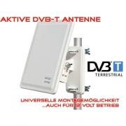AX 800 Aktive DVB-T Außen Antenne 32 dB Verstärkung + Wand- und Masthaterung