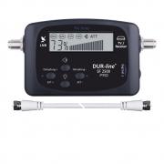SATFINDER SF2500 Satelliten-Finder mit digitaler LCD-Anzeige inklusive Zwischenkabel und Kompass