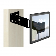 Caratec Flex CFW305S TV-Wandhalter mit drei Drehpunkten Farbe: Schwarz