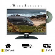 Gelhard GTV1682 DVD 16 Zoll Widescreen TV DVB-S2-T2 Full HD 12/24/230 Volt mit PVR-Funktion