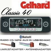 Gelhard Classic 40 Autoradio schwarz RDS CD MP3 USB SD Bluetooth Universaleinbau