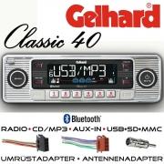 Gelhard Classic 40 Autoradio silber RDS CD MP3 USB SD Bluetooth Universaleinbau