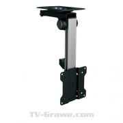 PureMounts PM-Slope-23 - Premium TV Deckenhalterung bis zu 105° neigbar für Dachschrägen