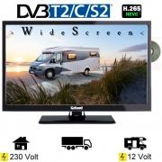 Gelhard GTV2442II LED Fernseher 24 Zoll DVB/S/S2/T2/C, DVD, USB, 12V 230 Volt