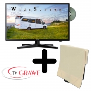 Gelhard GTV-2482 LED 24 Zoll Wide Screen TV DVD DVB/S/S2/T2/C 12/24/230 Volt