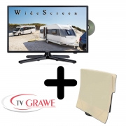 Gelhard GTV-2282 LED 22 Zoll Wide Screen TV DVD mit Monitorhülle