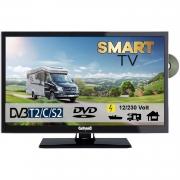 Gelhard GTV2452 Smart TV 24 Zoll DVB/S/S2/T2/C, DVD, USB, 12V 230 Volt WLAN