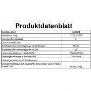 Gelhard GTV2282PVR LED 22 Zoll Wide Screen TV DVD DVB/S/S2/T2/C 12/24/230 Volt