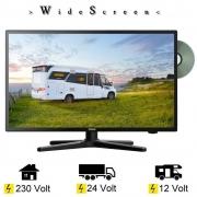Gelhard GTV2482PVR LED 24 Zoll Wide Screen TV DVD DVB/S/S2/T2/C 12/24/230 Volt