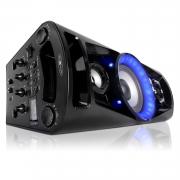 Mobile Discosoundmaschine mit Bluetooth, Radio, 2x USB, AUX-IN und Akku