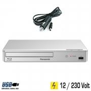 Panasonic Blu-ray Player silber mit HDMI, USB, 12 Volt &230 Volt für Wohnmobil, Camping