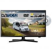 Gelhard GTV2254 LED Smart TV mit DVD und DVB-S2 /C/T2 für 12V u. 230Volt WLAN Full HD
